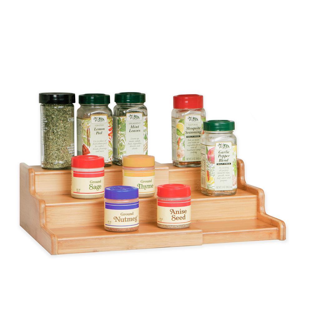 jars bottles seasoning standing rack