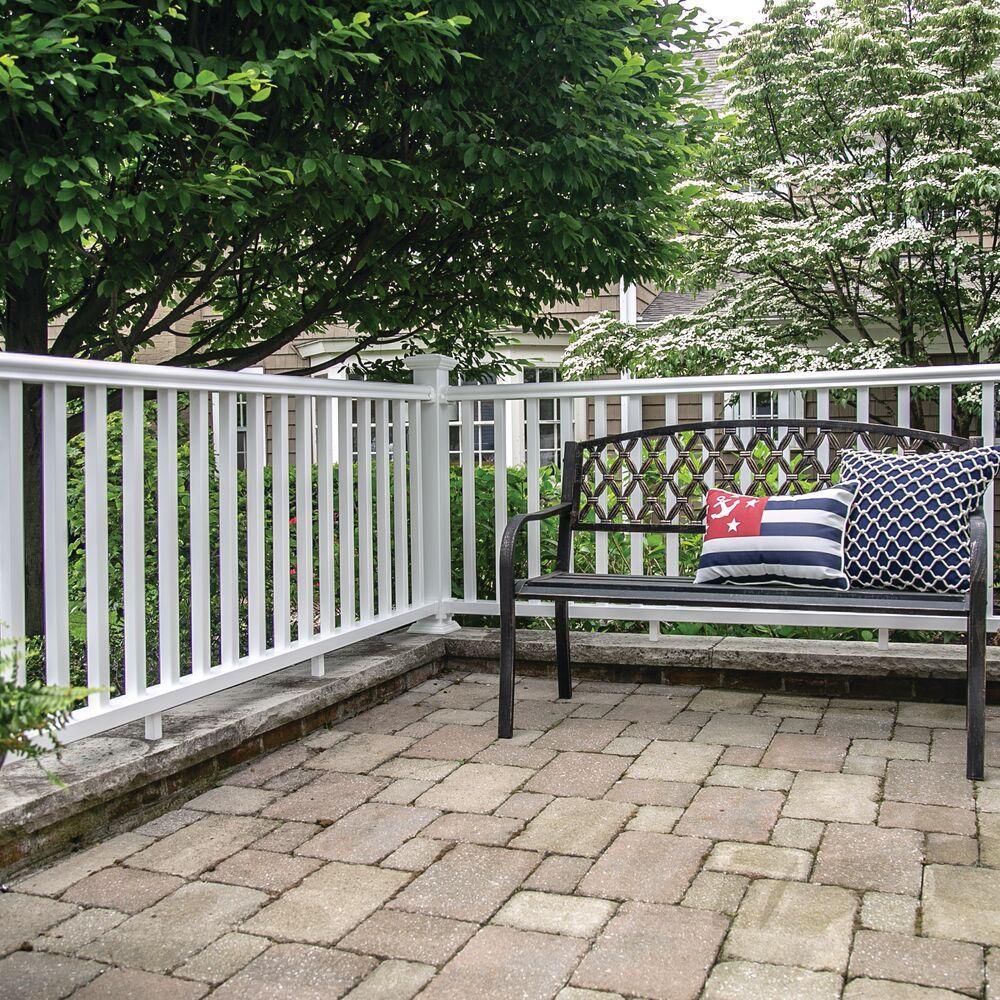 Veranda Traditional 8 Ft X 36 In White Polycomposite Rail Kit   Veranda Traditional Stair Railing   Porch Deck   Composite   Porch Railing   Angle Bracket Kit   Composite Decking