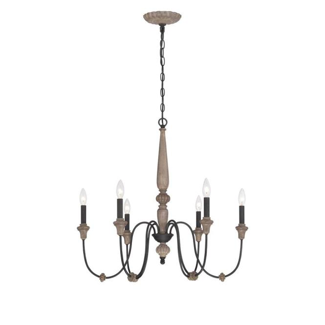 World Imports Capra 6 Light Rust Chandelier With Distressed Ivory Accents Wi974042 The Home Depot