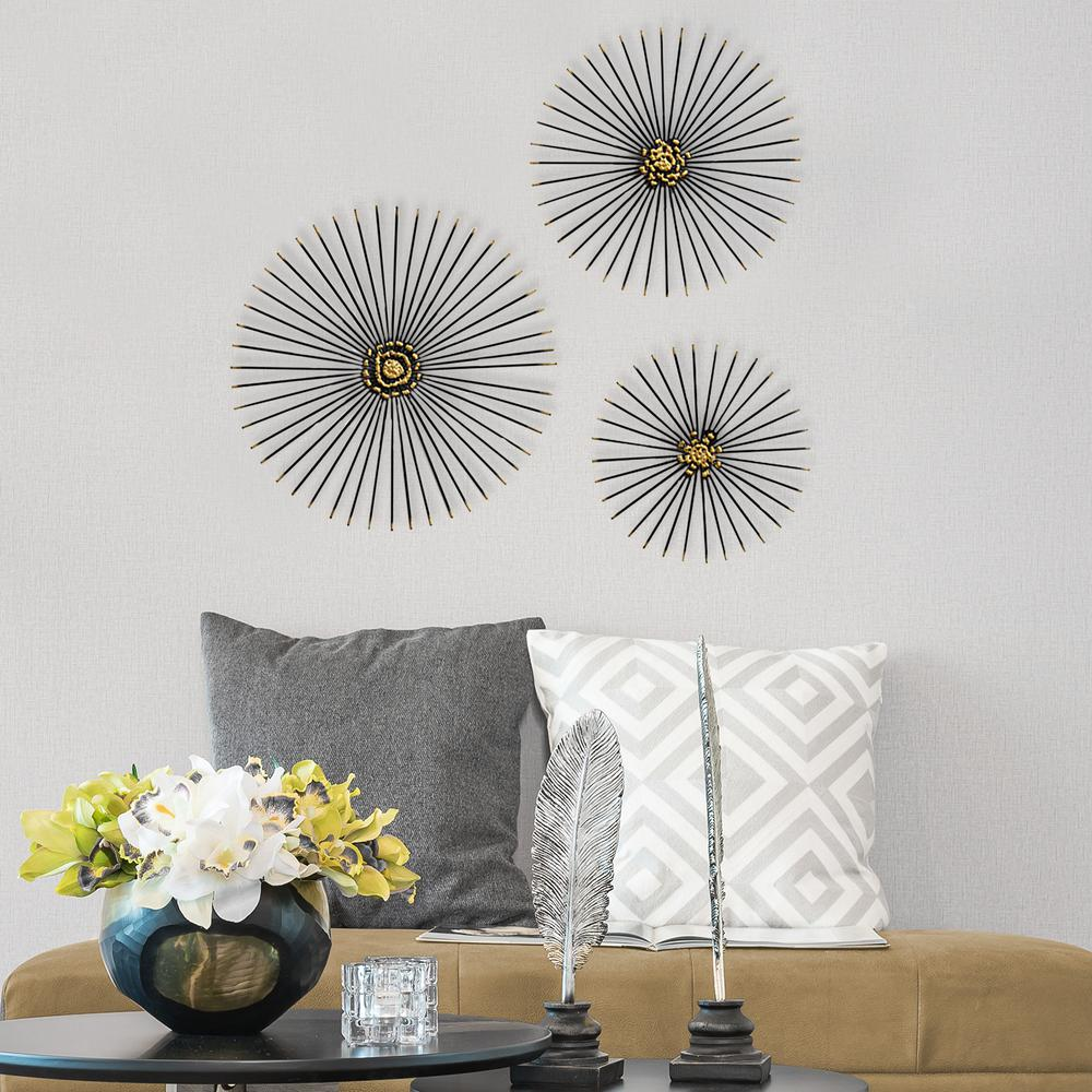 Trio Starburst Wall Decor S07674 The Home Depot
