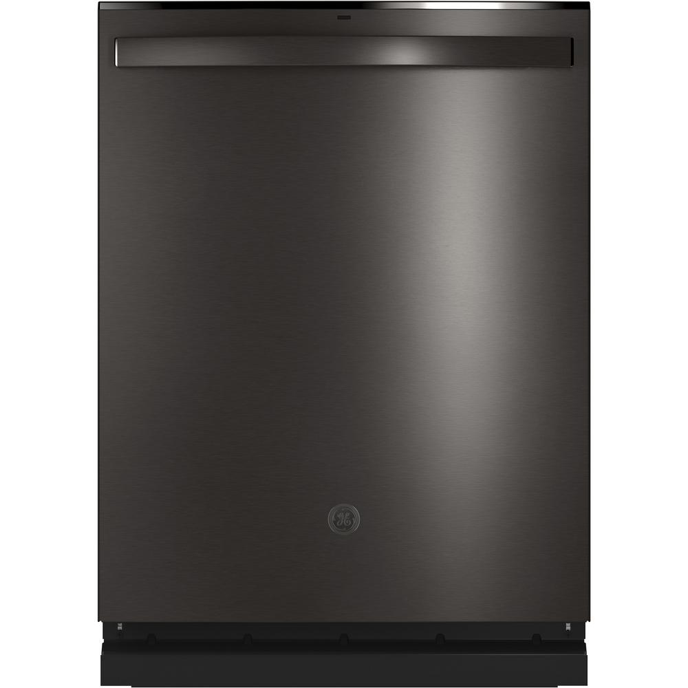 Ge Top Control Tall Tub Dishwasher In Black Stainless Steel With Stainless Steel Tub And Steam Prewash 46 Dba