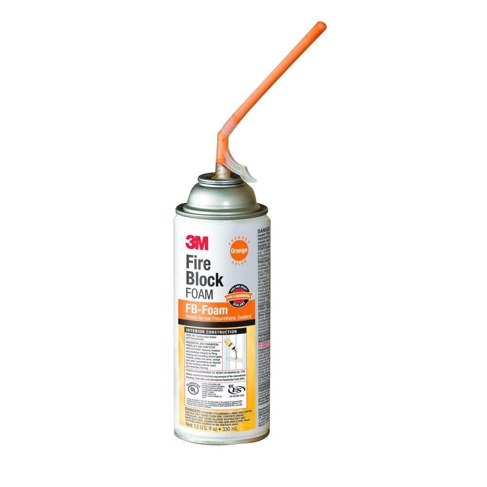 3m 12 Oz Orange Fire Block Foam Specialty Sealant