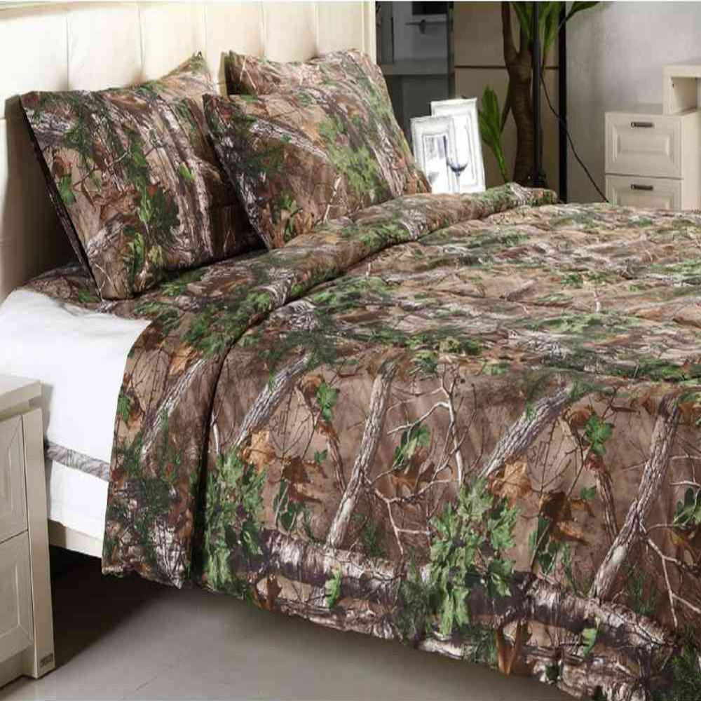 realtree xtra green solid queen comforter rtxgcomf queen the home depot