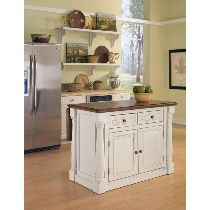home styles monarch white kitchen island with drop leaf-5020-94