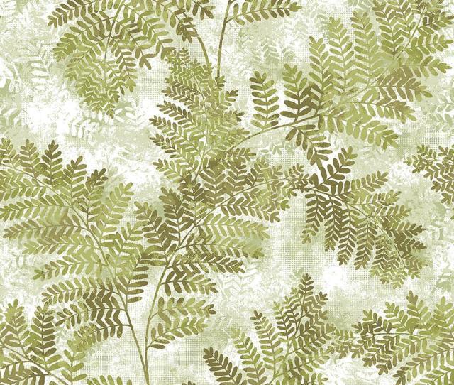 Cyathea Light Green Fern Wallpaper