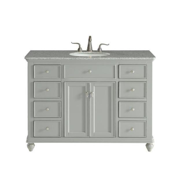 Somerton 48 in. Single Bath Vanity w/ 8 Drawers 1 Shelf 2 ... on {keyword}