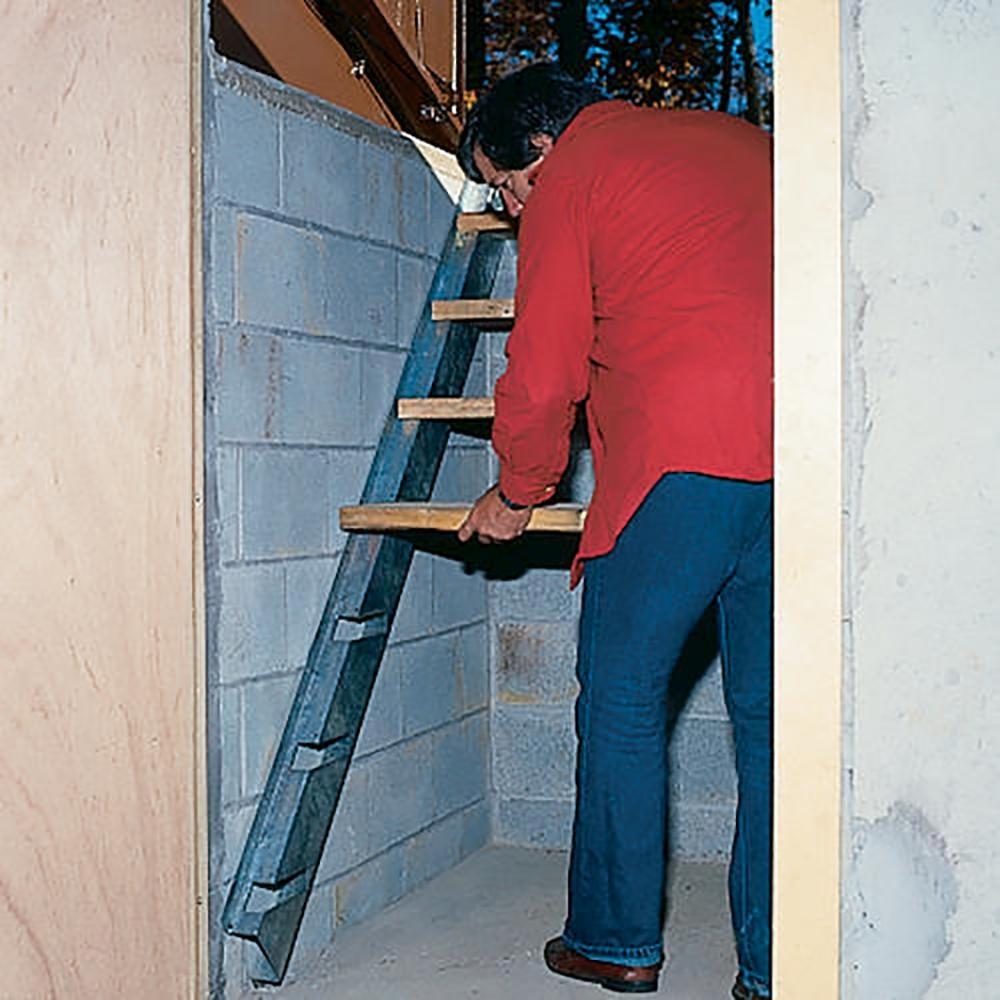 Bilco Size C Stair Galvanized Steel Stringer Kit Sz C Ss The | Bilco Precast Basement Stairs | Egress Window | Basement Entry | Precast Concrete Steps | Bilco Doors | Wine Cellar