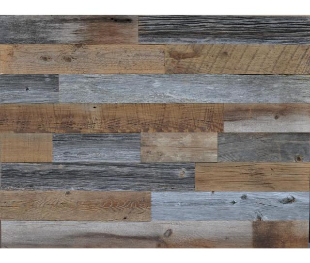 Reclaimed Wood Brown And Gray   In Thick X   In W
