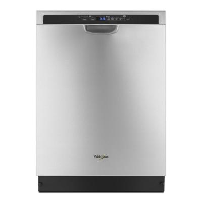 Whirlpool Front Control Built In Tall Tub Dishwasher In Stainless Steel With 1 Hour Wash Cycle 63 Dba Wdf130pahs