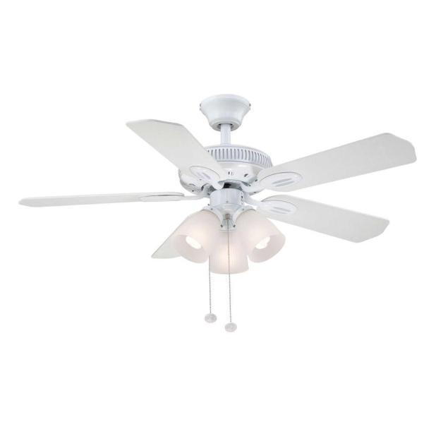 Hampton bay ceiling fans warranty gradschoolfairs hampton bay glendale 42 in indoor white ceiling fan with light aloadofball Gallery