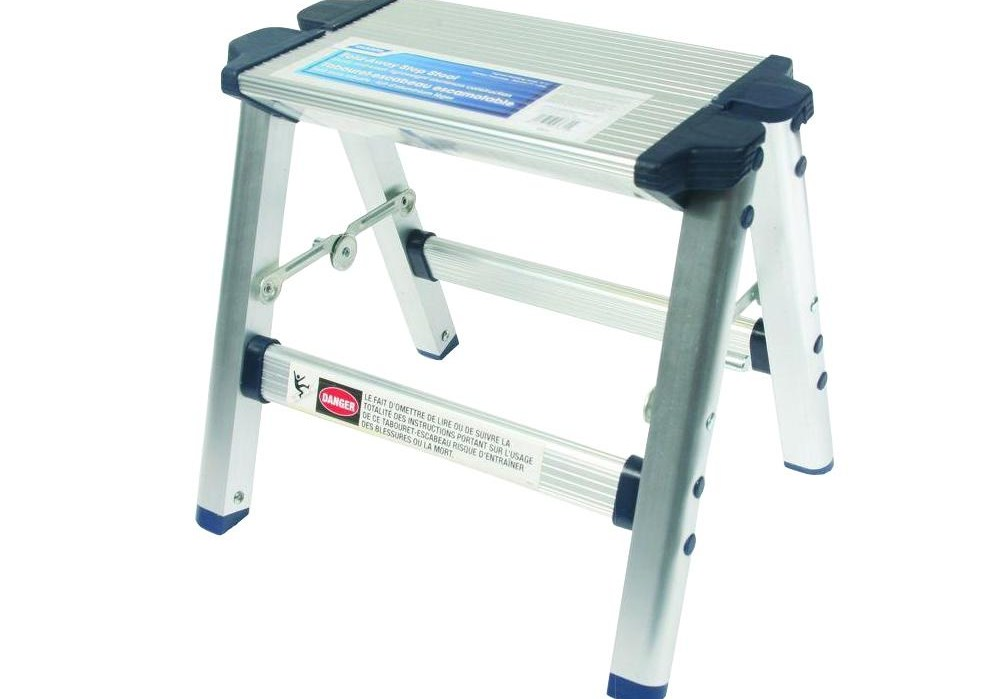 Camco Folding Metal Step Stool 43672 The Home Depot | Metal Steps Home Depot | Roofing | Galvanized Steel | Step Stool | Gorilla Ladders | Wrought Iron Railings