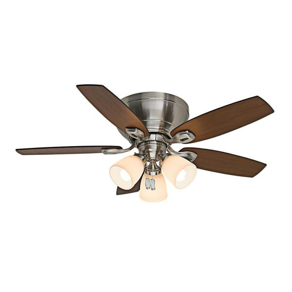 Casablanca Durant 44 in  Indoor Brushed Nickel Ceiling Fan with     Casablanca Durant 44 in  Indoor Brushed Nickel Ceiling Fan with Light Kit