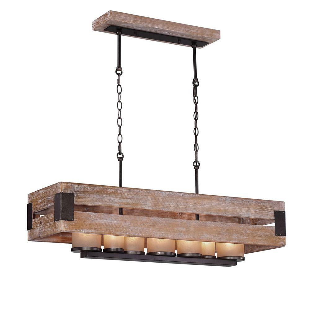 Home Decorators Collection Ackwood Collection 7 Light Wood