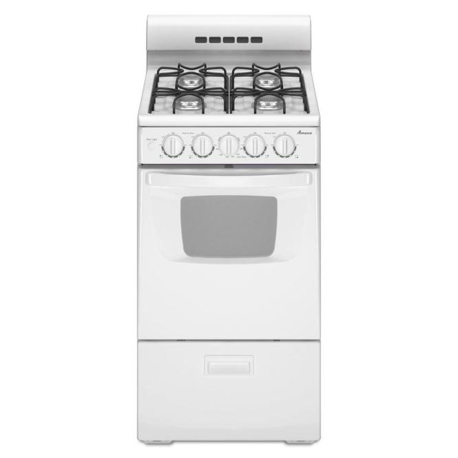 20 In 2 6 Cu Ft Gas Range White