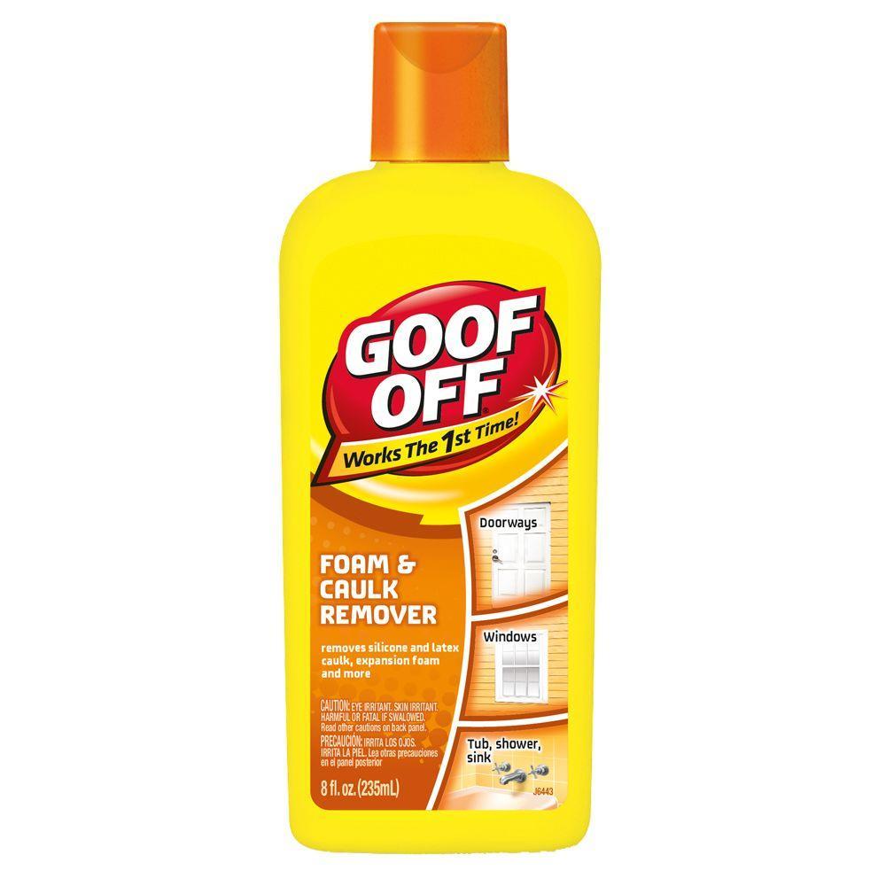 Goof Off 8 Oz Foam And Caulk Remover FG675 The Home Depot