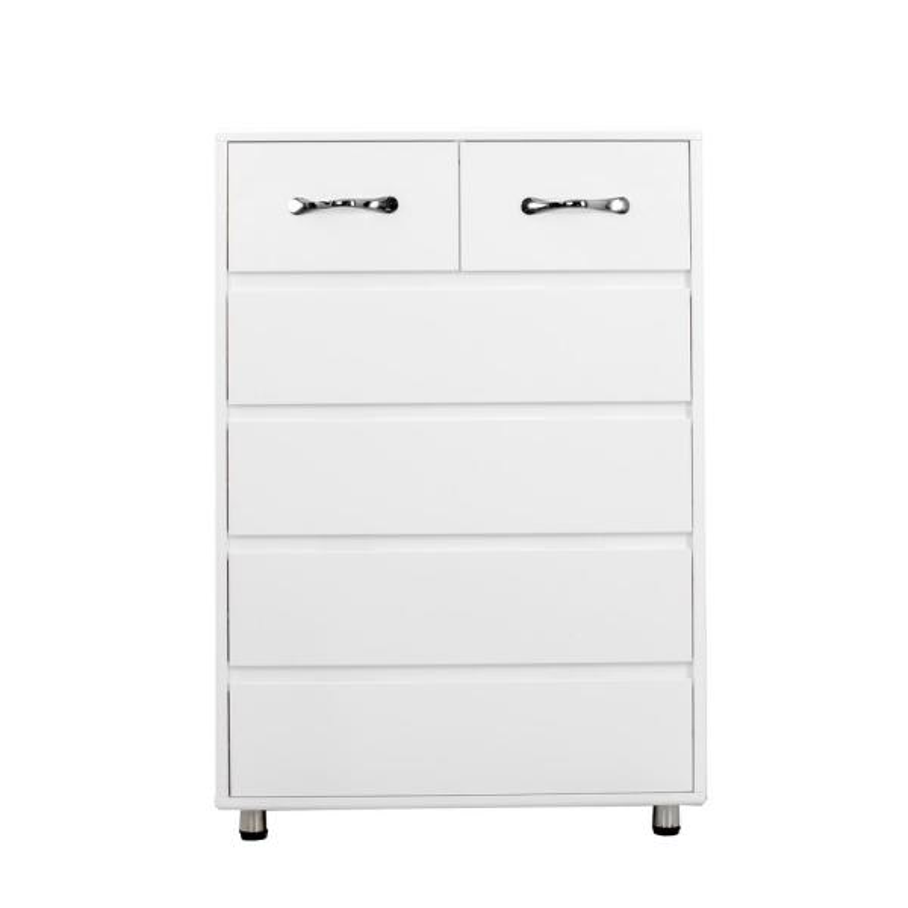 boyel living white 6 drawer side table