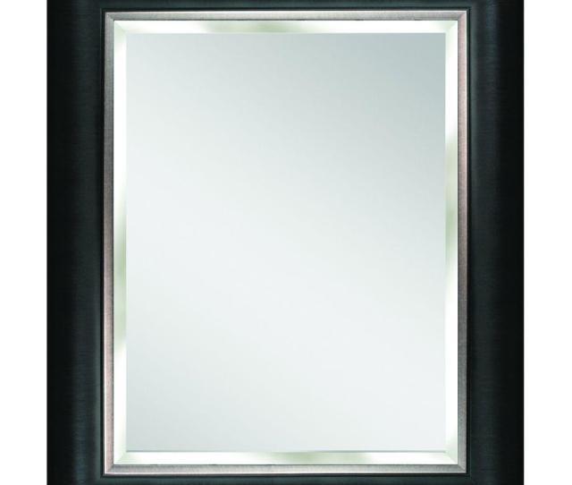 Deco Mirror Alderton  In X  In Mirror In Black And Silver