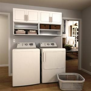 Modifi Madison 60 In W White Open Shelves Laundry Cabinet