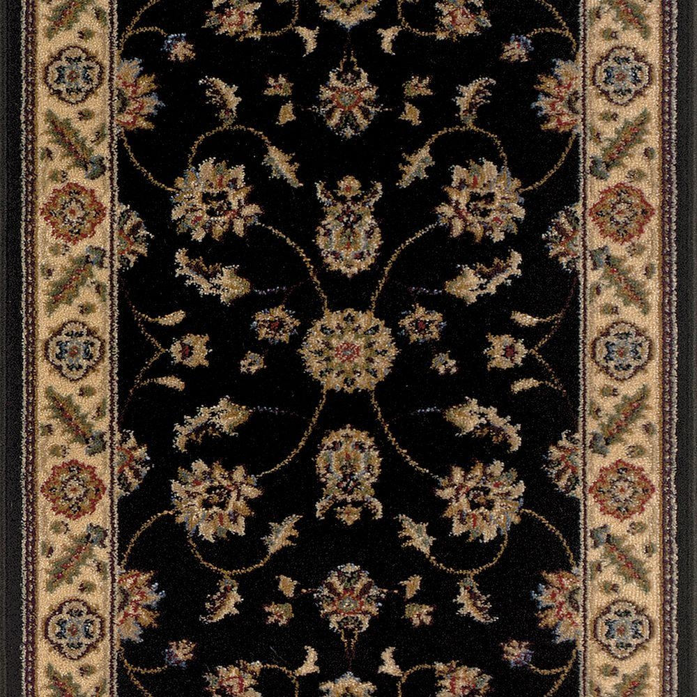 Trafficmaster Canyon Kazmir Black 26 In X Your Choice Length   Oriental Rug Runners For Stairs   Design Stair   Basement Stairs   Area Rugs   Bucks County   Salem Ma