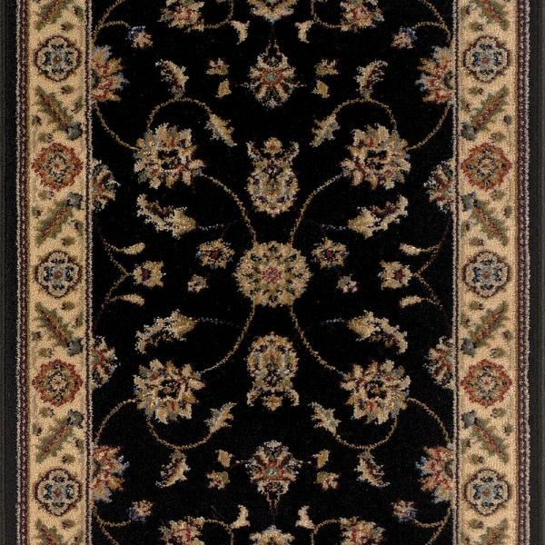 Trafficmaster Canyon Kazmir Black 26 In X 50 Ft Roll Rug Runner | Home Depot Rug Runners By The Foot | Area Rugs | Regent Tan | Plastic | Carpet Protector | Mat