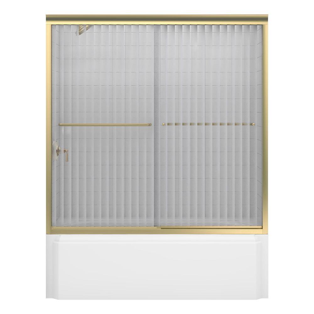 KOHLER Fluence 60 In X 58 516 In Semi Frameless Sliding