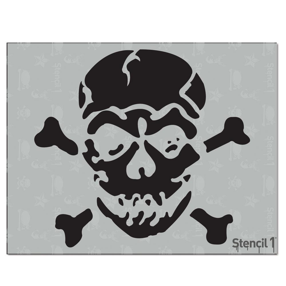 Stencil1 Jolly Roger Stencil S10120 The Home Depot