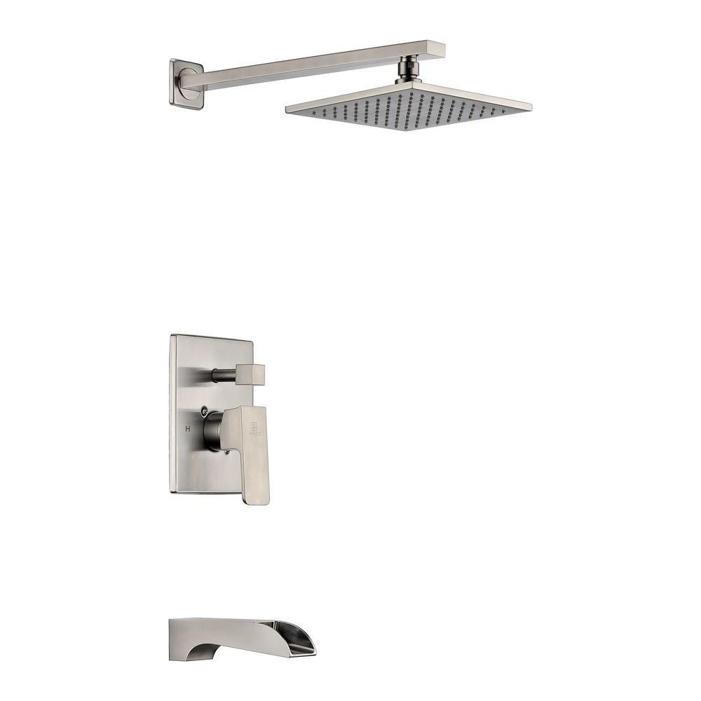 modern rainfall shower faucet