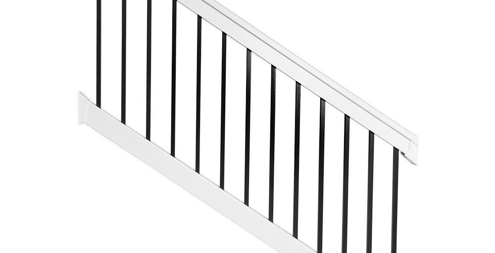 Weatherables Vilano 36 In X 72 In Vinyl White With | Metal Spindles Home Depot