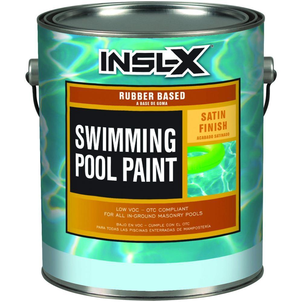 Insl X 1 Gal Semi Gloss Water Ocean Blue Swimming Pool