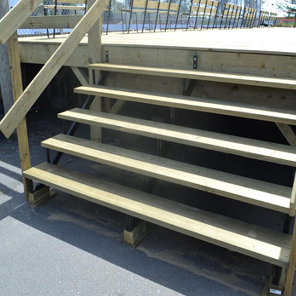 Pylex 5 Steps Steel Stair Stringer Black 7 1 2 In X 10 1 4 In | Metal Stairs Home Depot | Stair Tread | Stair Stringer | Stair Parts | Handrail | Stair Railing