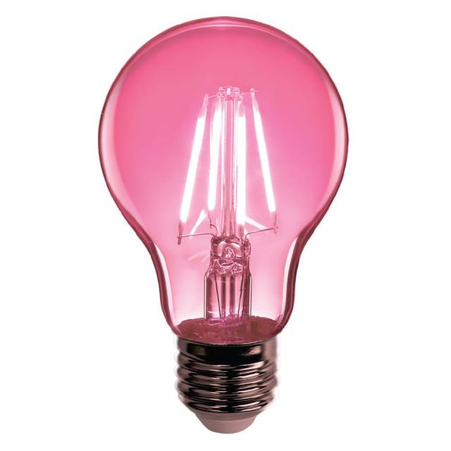 Feit Electric 25w Equivalent Pink Colored A19 Dimmable Filament Susan G Komen Led Clear Glass