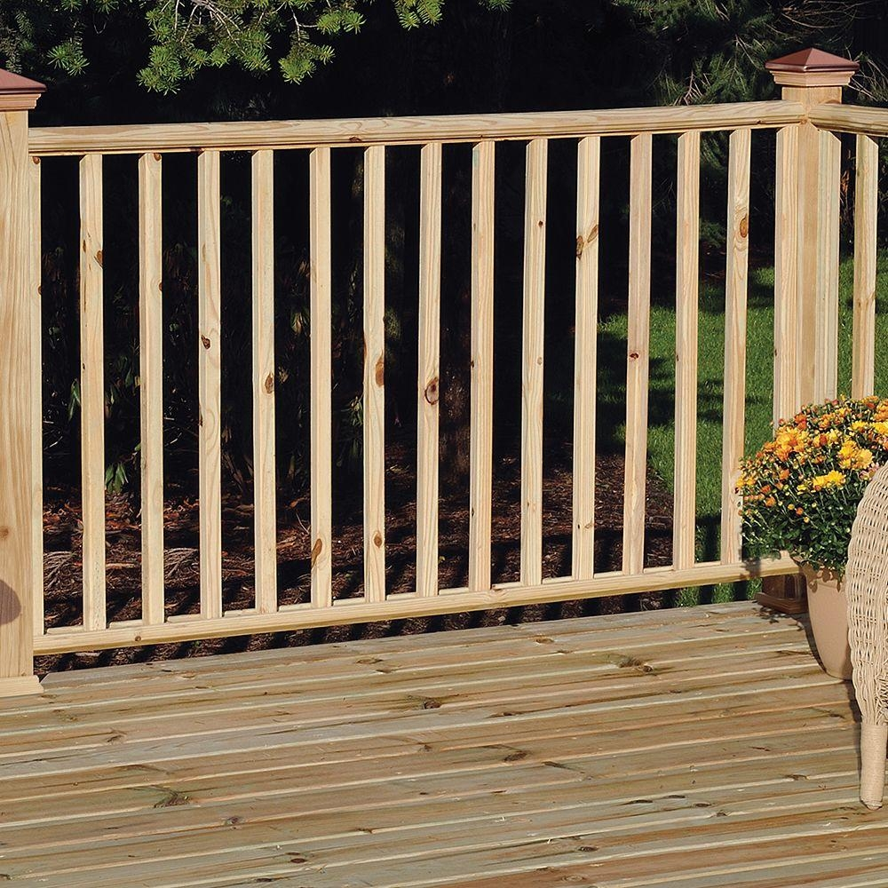 Weathershield 2 In X 2 In X 36 In Wood Pressure Treated Square   Wood Balusters For Sale   Rail Hardware   Wrought Iron Baluster   Deck Railing Spindles   Stair Treads   Stair Parts