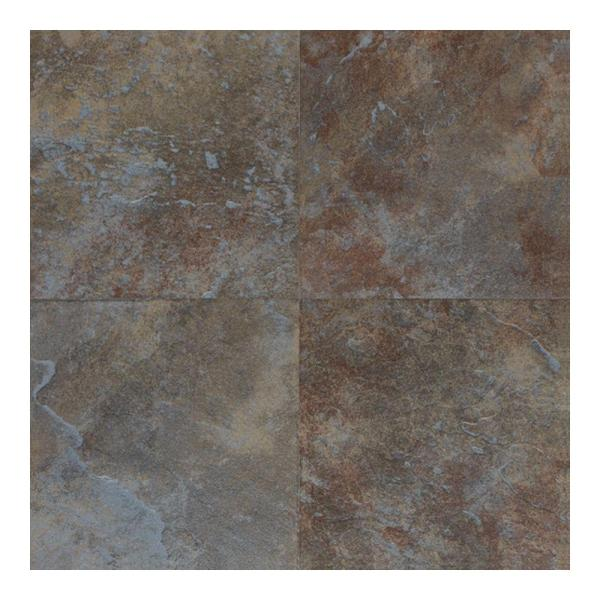 Blue   Porcelain Tile   Tile   The Home Depot Continental Slate Tuscan Blue 18 in  x 18 in  Porcelain Floor and Wall Tile