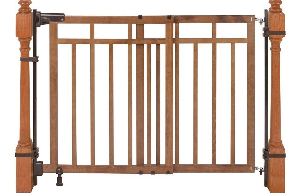 Summer Infant 33 In Banister And Stair Gate With Dual | Wood Handrail Home Depot | Redwood Deck Railing | Treated Lumber | Deck Stair Handrail | Outdoor | Oak Stair