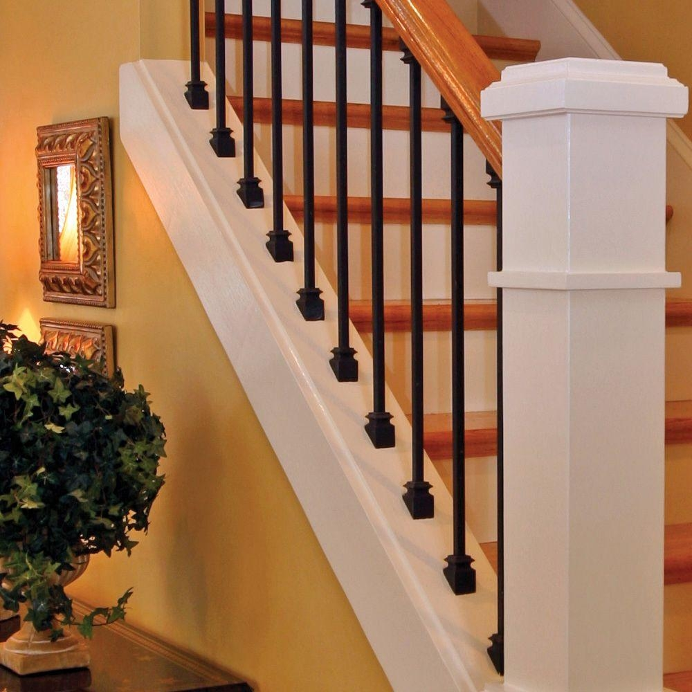Stair Parts 44 In X 1 2 In Matte Black Metal Baluster I555B 044 | Home Depot Railings Interior | Wrought Iron Railing | Staircase | Glass Railing | Metal | Iron Stair Railings