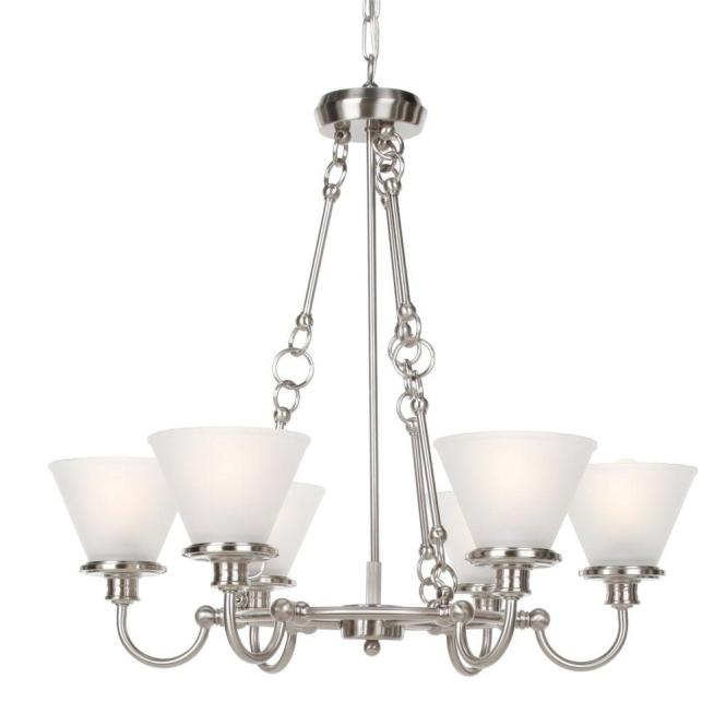Hampton Bay 6 Light Brushed Nickel Chandelier