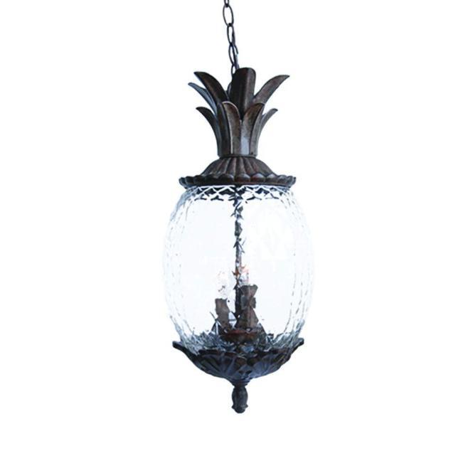 Acclaim Lighting Lanai Collection 3 Light Black C Outdoor Hanging Fixture 7516bc The Home Depot
