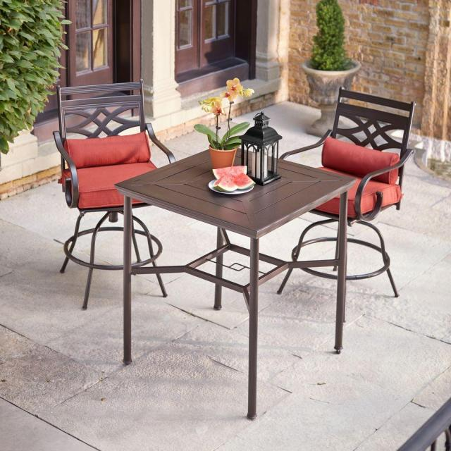 hampton bay middletown 3-piece motion high patio dining set with