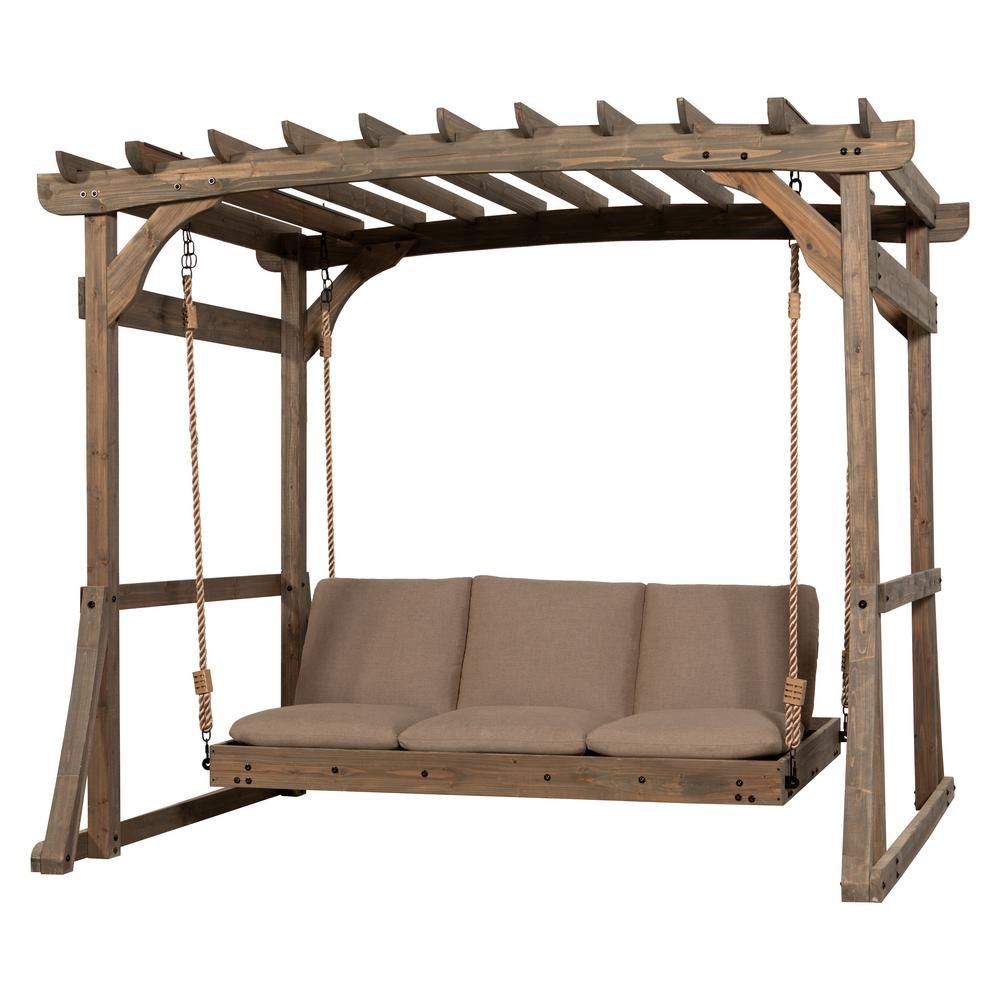 outdoor hanging daybeds for a backyard