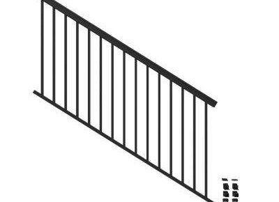Aluminum Outdoor Handrails Deck Stairs The Home Depot | Iron Handrails For Outside Steps | Aluminum Railing | Railing Systems | Deck Railing | Front Porch