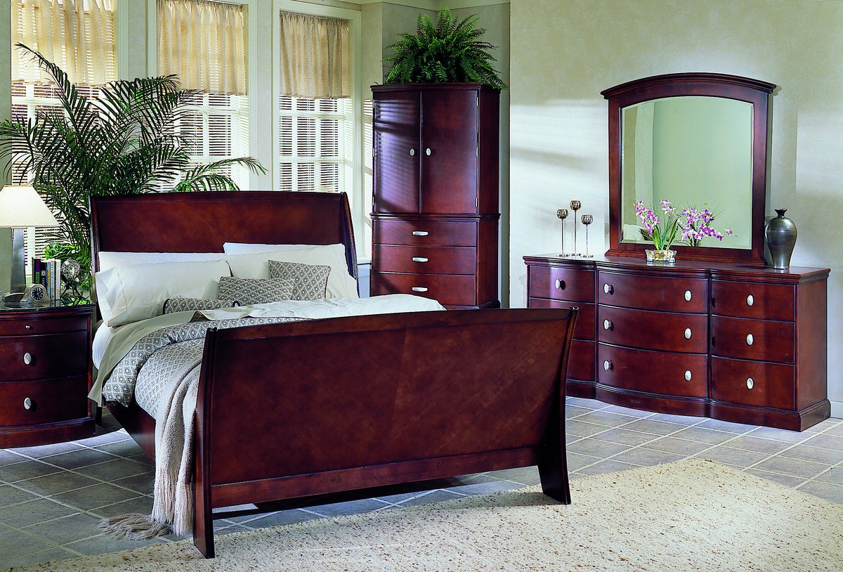 homelegance 5th avenue bed with wood rails