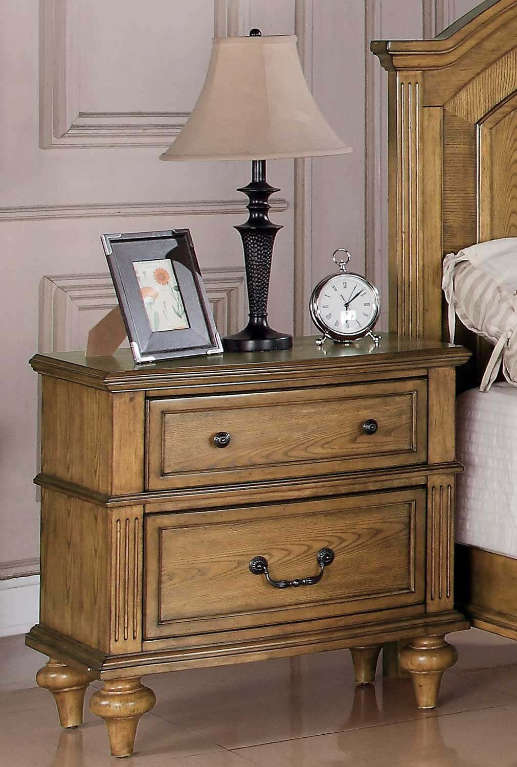 Coaster Emily Night Stand Light Oak