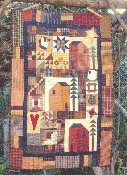 Down A Country Road Wall Hanging Quilt Pattern By Country Quilts By Country Quilts