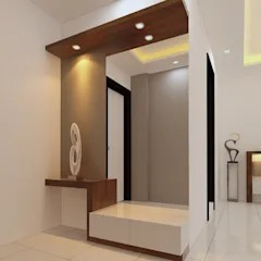 lobby and bedroom dressing room by fuze interiors