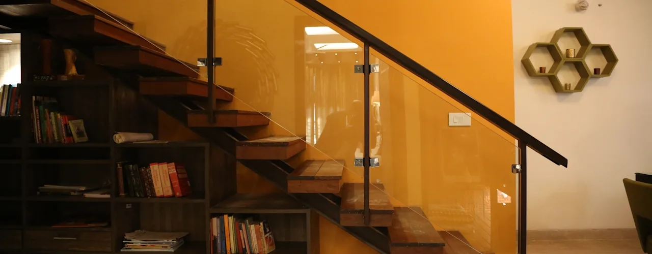 7 Modern Staircase Designs For Indian Homes Homify Homify | Duplex House Staircase Wall Design | Contemporary | Textured | Apartment Duplex | Fancy | Stair Wall Paint