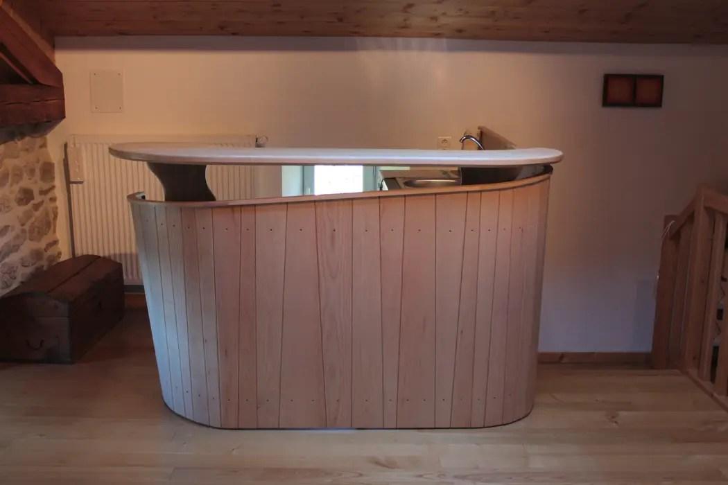 meuble bar avec evier et rangement en