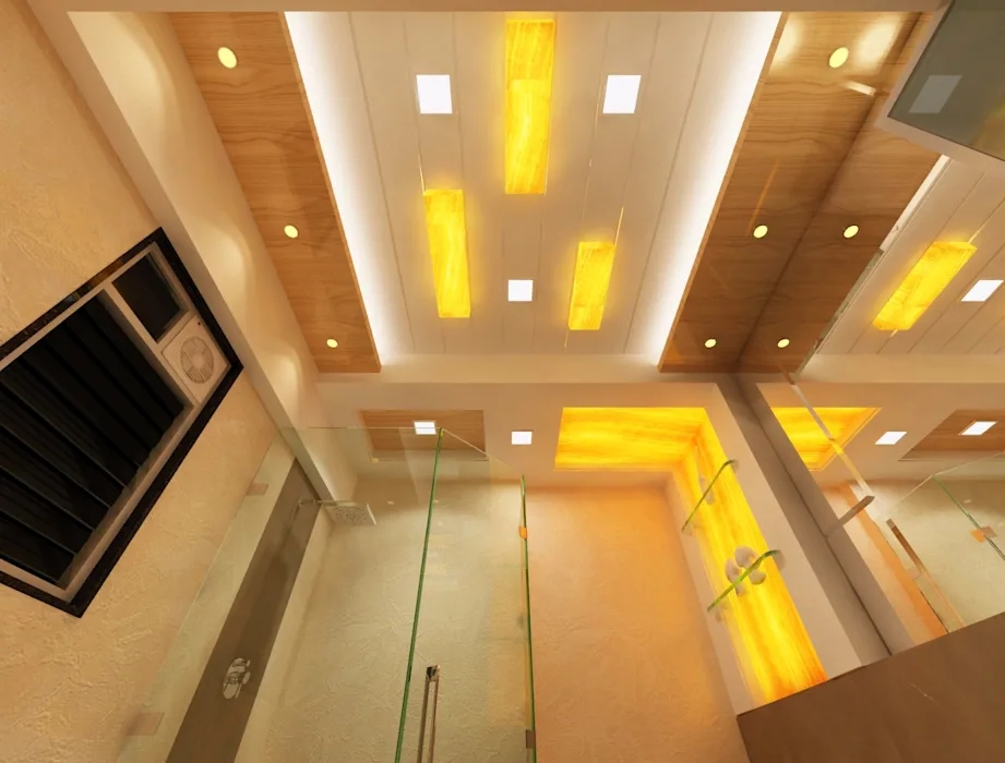 False Ceiling Ideas Modern Corridor Hallway Stairs By Square 4 | False Ceiling On Stairs | Residential | Pvc Panel Ceiling | Kitchen | Traditional | Living Room Hardiflex Ceiling