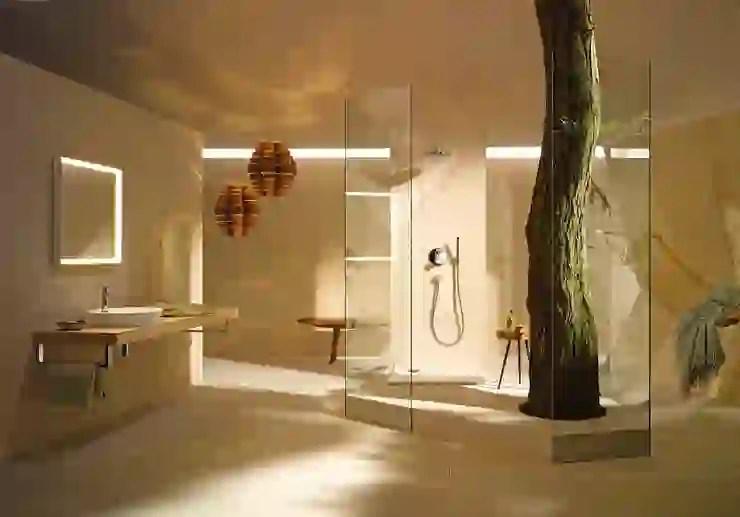 small windowless bathroom