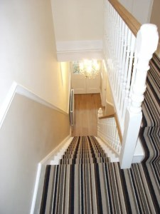 Halls Stairs and Landings by Style Within   homify Striped Stair Carpet Runner  Corridor   hallway by Style Within