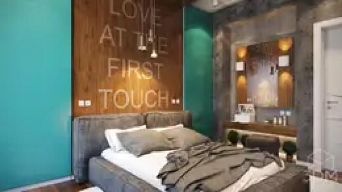 Dormitorios de estilo industrial de студия визуализации и дизайна интерьера '3dm2'